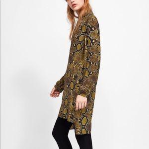 Zara Snakeskin Dress S